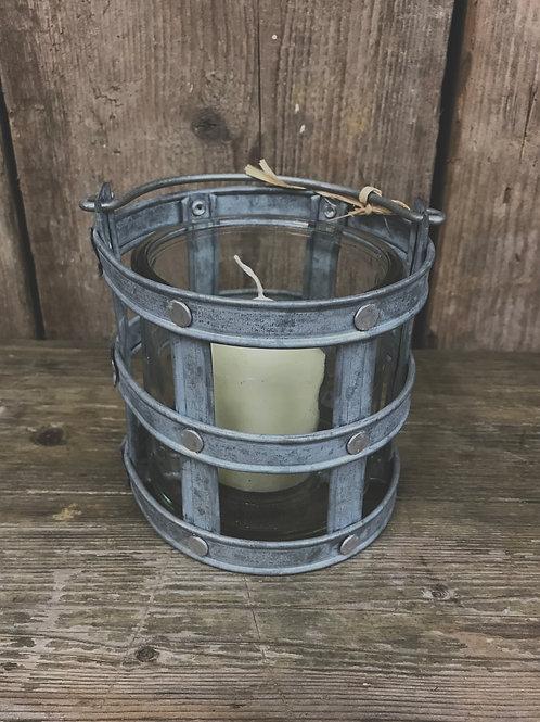Grey Candle Holder
