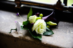 A groom's flower button hole
