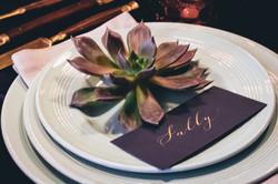 Luxury dinner table name setting