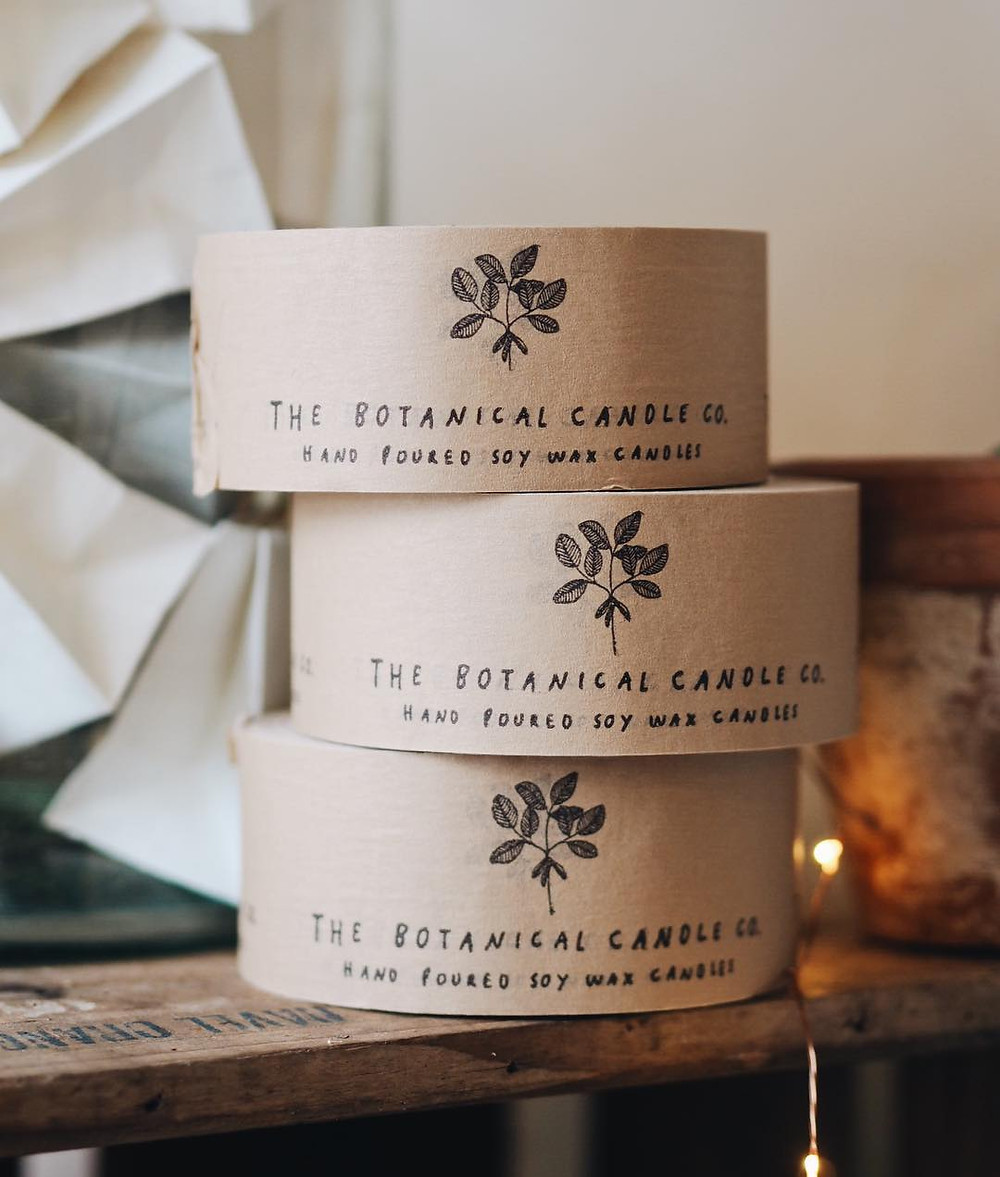 Botanical Candle Company eco-friendly packaging