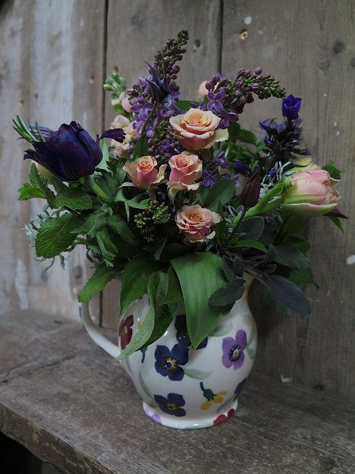 Purple Wallflower Jug