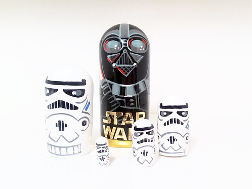 Star War nesting Doll pis, 5 in high