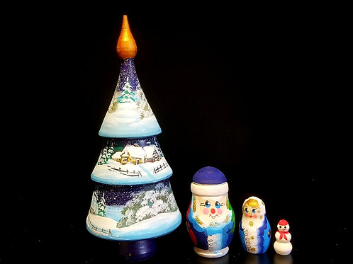 4 pieces Christmas tree
