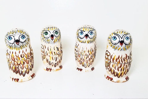 5 pieces owl nesting doll
