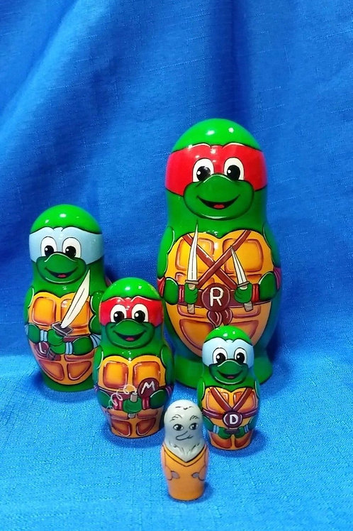 5 pieces teenage mutant ninja tourtle