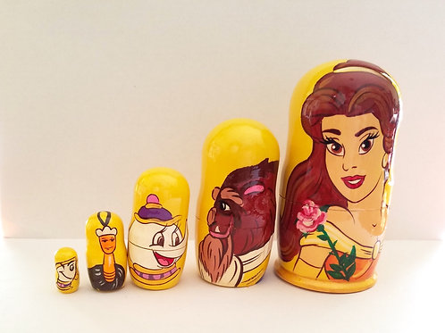 BEAUTY AND THE BEAST  NESTING DOLL 5m