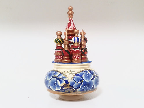 RUSSIAN MUSICAL BOX ST BASIL CATHEDRAL