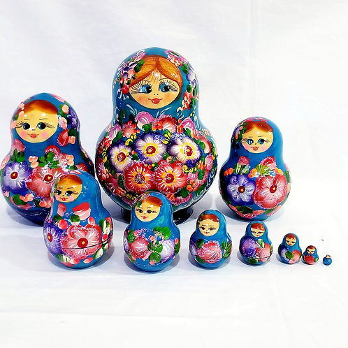 Russian Nesting doll 10 pieces