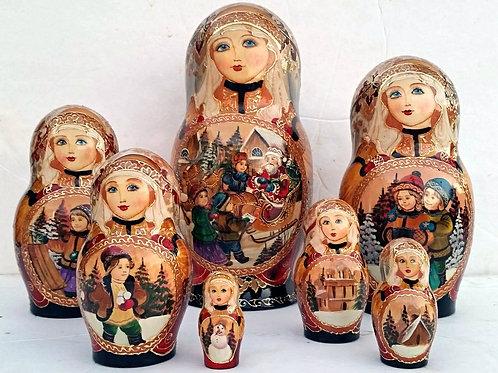 7 piece unique nesting doll