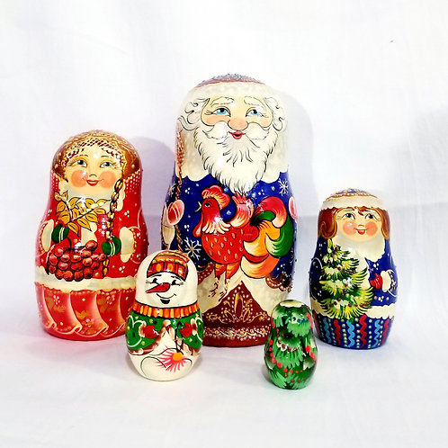 5 pieces Santa clause