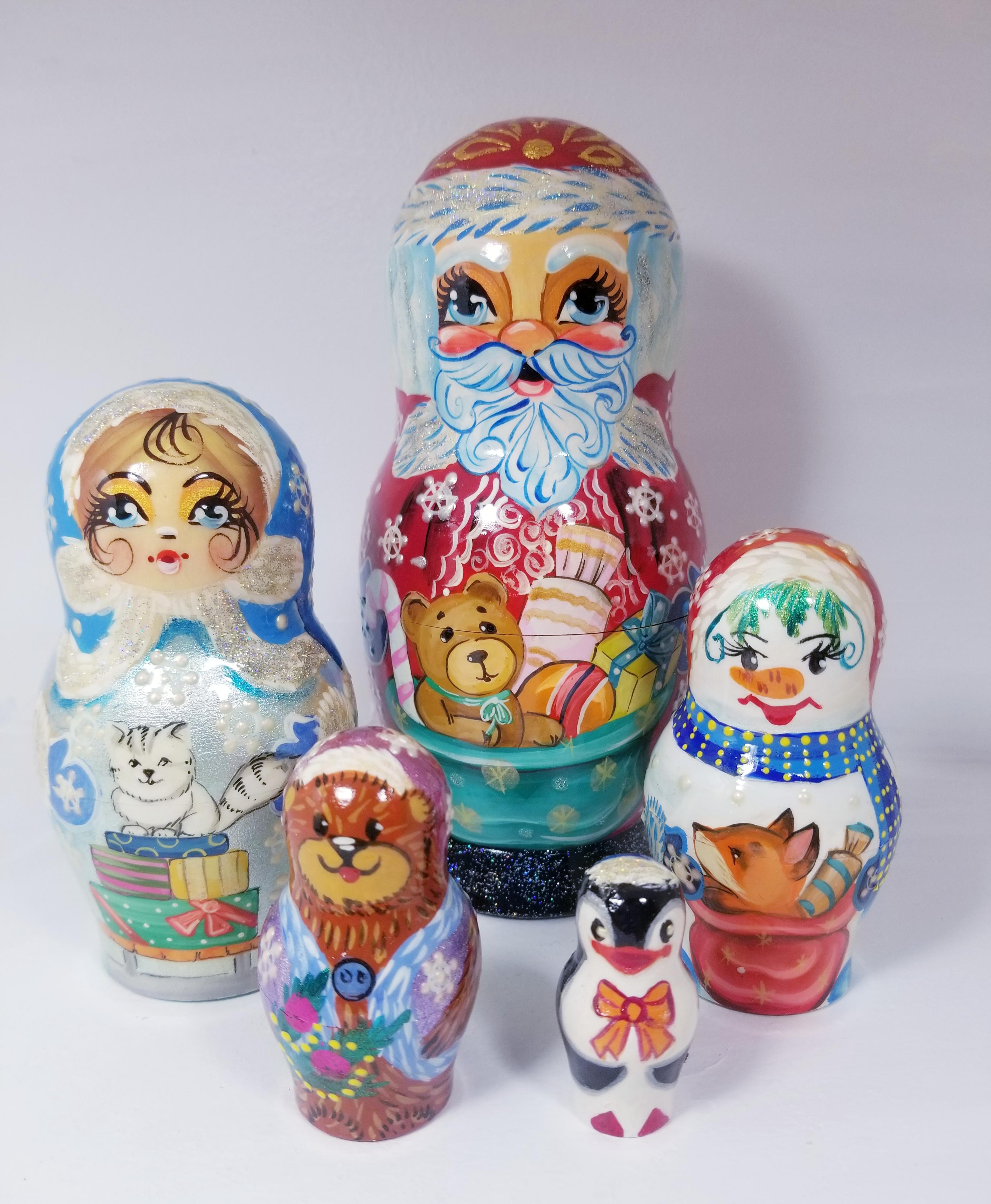 Santa nesting Doll