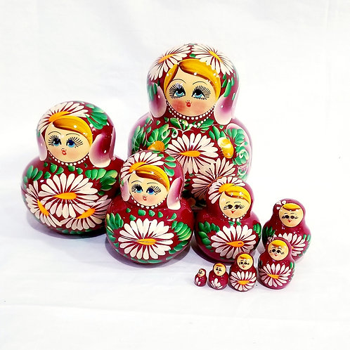 Russian Nesting doll 9 pieces