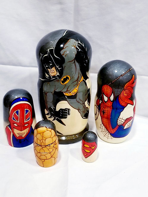Batman  and friends nesting doll