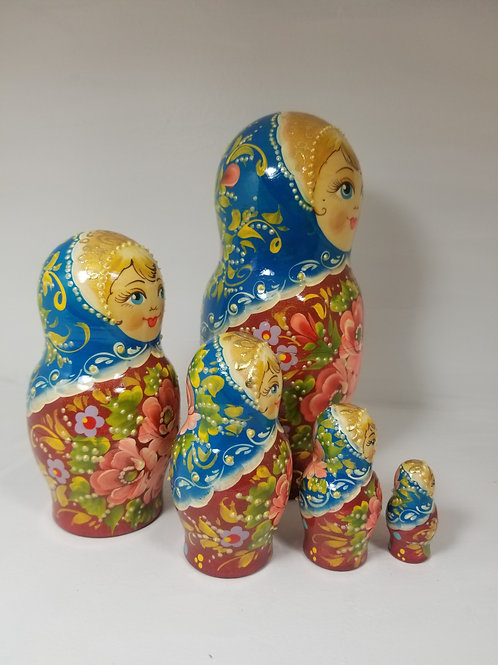 Russian nesting doll, 5 pieces