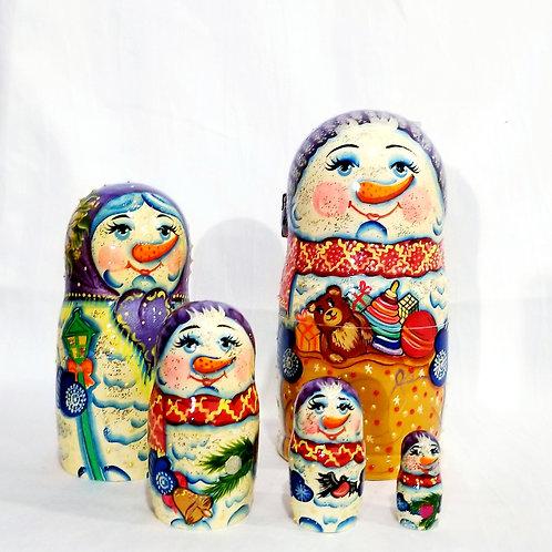 5 pieces snowman