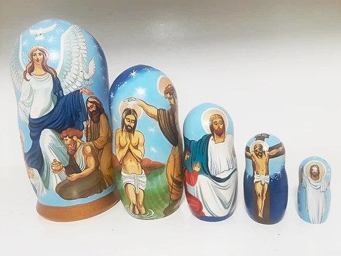 Unique Nativity  Nesting Doll, Jesus Life