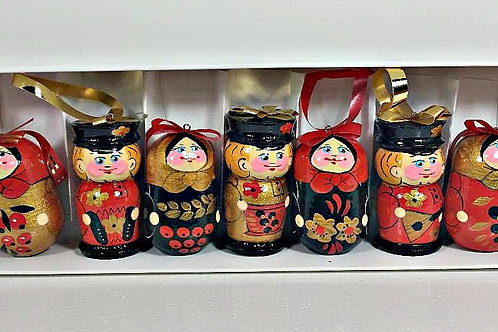 Christmas ornaments 6 pcs