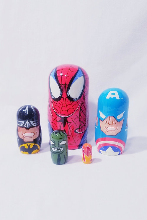 spider man nesting doll