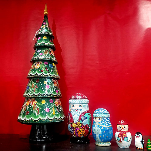 5 pieces Russian Nesting tree
