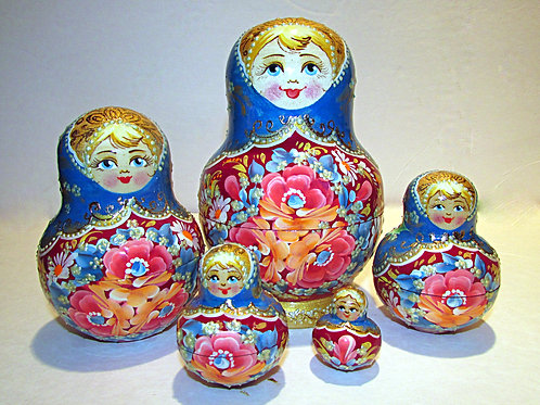 5 pieces nesting doll