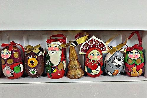 Christmas ornaments 6 pcs