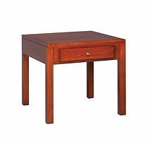 Park Avenue End Table|Brown Maple in Mission Maple OCS225|27in W x 27in D x 25in H|The Amish Home|Amish Furniture at the Pittsburgh Mills