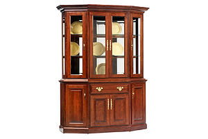 Queen Victoria 61in Canted Hutch|Cherry in Acres OCS106|61in W x 21in D x 81in H|The Amish Home|Amish Furniture at the Pittsburgh Mills Amish dining solutions