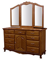 Classic Dresser|Oak in Seely OCS104|67in W x 21in D x 38in H|The Amish Home|Amish Furniture at the Pittsburgh Mills