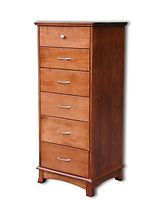 Crescent Lingerie Chest|Cherry in S-14 OCS108|24 1/2in W x 20 3/4in D x 56in H|The Amish Home|Amish Furniture at the Pittsburgh Mills