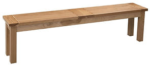 Fiona Plank Bench with breadboard ends | Hickory in Natural OCS100 | Many Sizes Available | The Amish Home | Amish Furniture at the Pittsburgh Mills