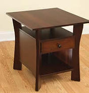 Westfield Enclosed End Table|Brown Maple in Coffee OCS226|17in W x 24in D x 24in H|The Amish Home|Hardwood Furniture at the Pittsburgh Mills