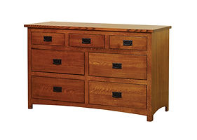 Michael's Mission 56in Dresser|Quartersawn White Oak in Michaels OCS113|55in W x 21 1/4in D x 34in H|The Amish Home|Amish Furniture at the Pittsburgh Mills