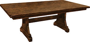 American furniture farmhouse table trestle table Amish furniture Pittsburgh Mills