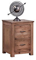 Writer's  Series 2-Drawer File Cabinet | Oak in Driftwood OCS135 | 22in W x 22 1/2in D x 30 1/2in H | The Amish Home | Amish Furniture at the Pittsburgh Mills