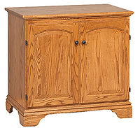 Miniature Petite Computer Armoire | Oak in MX OCS103 | 34in W x 211/4in D x 32in H | The Amish Home | Amish Furniture at the Pittsburgh Mills