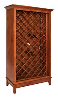 Canterbury Wine Cabinet|Rustic 1/4Sawn in Michaels OCS113|40 1/2in W x 18 3/4in D x 71 1/2in H|The Amish Home|Amish Furniture at the Pittsburgh Mills