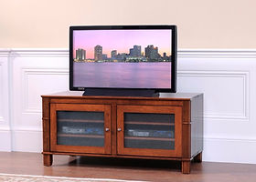 Arlington TV Stand|Brown Maple in Coffee OCS226|50in W x 22 3/4in D x 24in H|The Amish Home|Amish Furniture at the Pittsburgh Mills