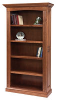 Buckingham Bookcase|Cherry in Washington OCS107|43in W x 14 3/4in D x 77 1/2in H|The Amish Home|Amish Furniture at the Pittsburgh Mills