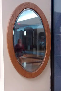 Oval Wall Mirror|Great Gifts from The Amish Home|Amish Furniture at the Pittsburgh Mills