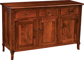 Jacob Martin 3 Door Buffet|Brown Maple in Michaels OCS113|57 7/8in W x 20 1/4in D x 35in H|The Amish Home|Amish Furniture at the Pittsburgh Mills