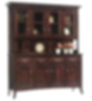 English Shaker 4 Door Hutch|Brown Maple in Rich Tobacco OCS228|69in W x 20in D x 81in H|The Amish Home|Amish Furniture at the Pittsburgh Mills