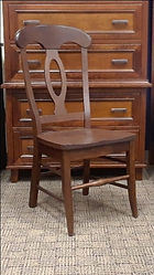 Napoleon Side Chair with wood seat Floor Model Special Cherry with OCS111 Boston Stain