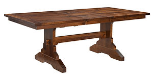 Suburban Trestle Dining Table | Rustic Cherry in Michaels OCS113 | Many Sizes Available | The Amish Home | Amish Furniture at the Pittsburgh Mills