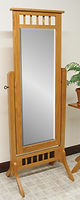 Open Top Mission Cheval Mirror|Oak in MX OCS103|26 3/4in W x 18in D x 68in H|The Amish Home|Hardwood Furniture at the Pittsburgh Mills