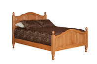 Crown Villa Panel Bed|Oak in Seely OCS104|Headboard 54in H, footboard 34in H|The Amish Home|Amish Furniture at the Pittsburgh Mills