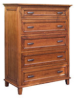 Brooklyn Chest of Drawers|Rustic Cherry in Michaels OCS113|39in W x 20 1/4in D x 53in H|The Amish Home|Hardwood Furniture at the Pittsburgh Mills