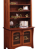 Master Bookcase|Quartersawn White Oak in Michaels OCS113|42in W x 20in D x 72in H|The Amish Home|Amish Furniture at the Pittsburgh Mills