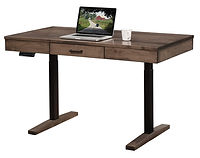Urbana Sit-Stand Desk | Adjustable height | Brown Maple in Medium OCS110 | 56in W x 30in D x 28-50in H | The Amish Home | Amish Furniture at the Pittsburgh Mills