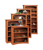 Wayne's Shaker Bookcase | Oak in Seely OCS104 | Many Sizes Available | The Amish Home | Amish Furniture at the Pittsburgh Mills