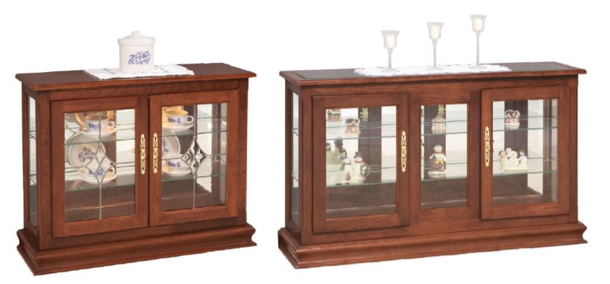 Small & Large Millersburg Curios in Cherry